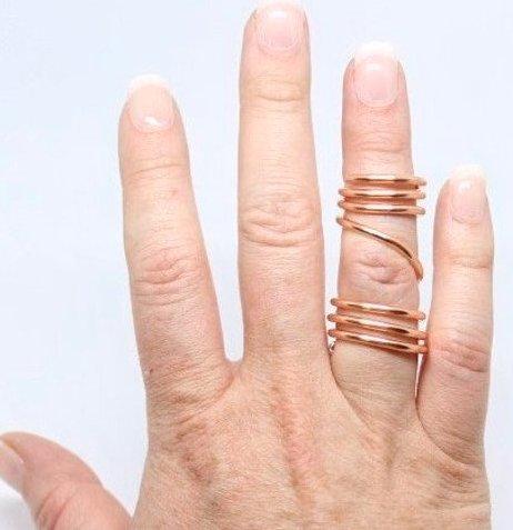 gold coil ring splint