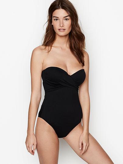 black strapless victoria's secret swimsuit