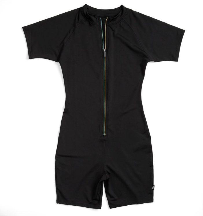 unisex black swimsuit tomboyx