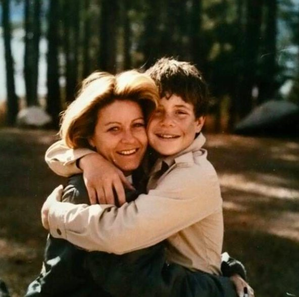 Image of a young Patty Duke and her son Sean Astin