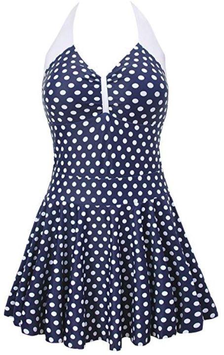 polka dot one piece retro swimsuit