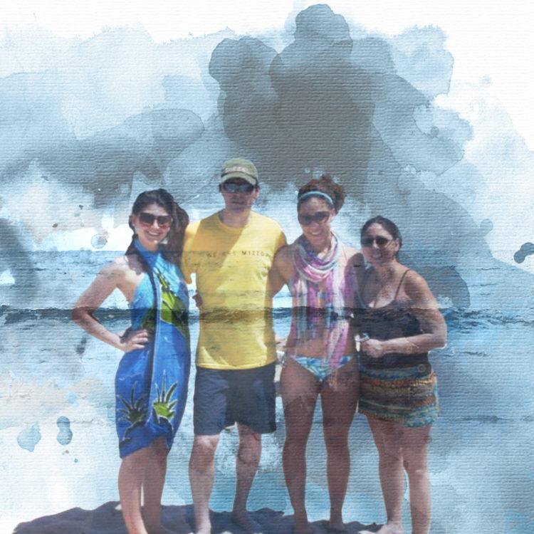 Menu Courey family at the beach