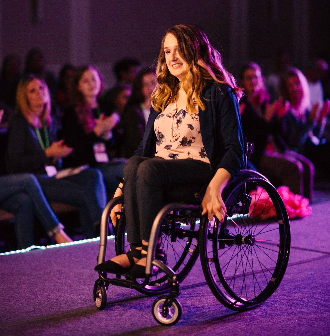 Shannon on the runway.